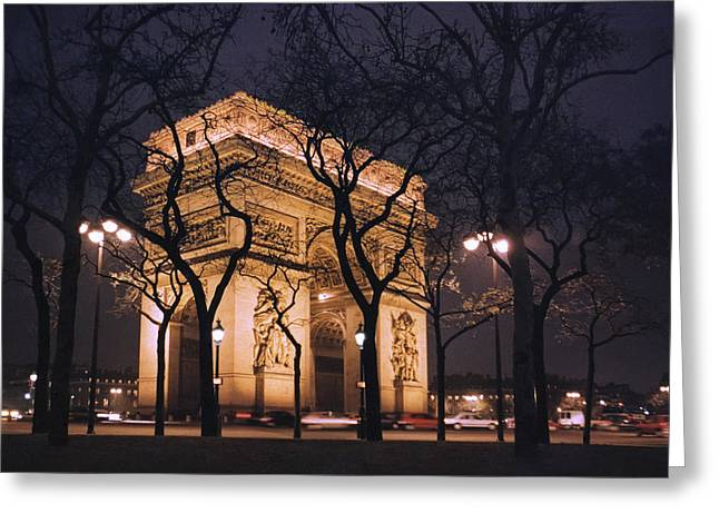 Champs Elysees Greeting Cards - ARC de TRIOMPHE - PARIS FRANCE Greeting Card by Daniel Hagerman