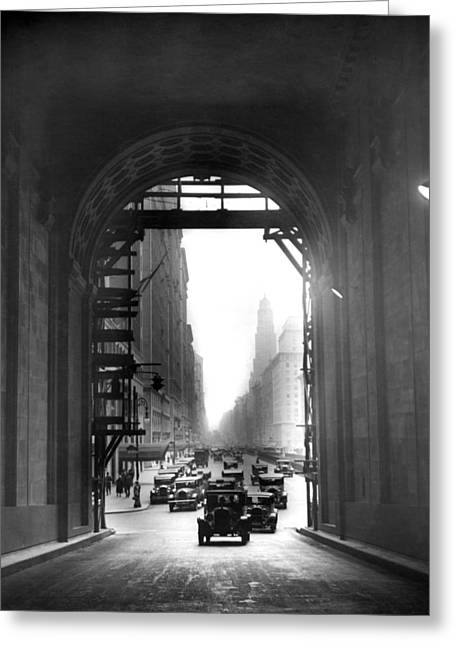 Arch At Grand Central Station Greeting Card by Underwood Archives