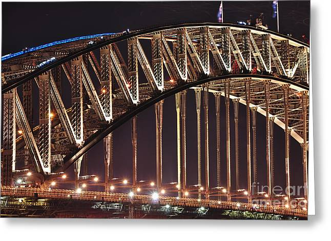 Famous Bridge Greeting Cards - Arch of Harbour Bridge by Kaye Menner Greeting Card by Kaye Menner