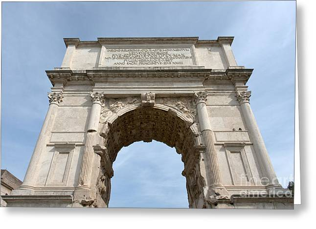 Domitian Greeting Cards - Arch of Titus Greeting Card by Fabrizio Ruggeri