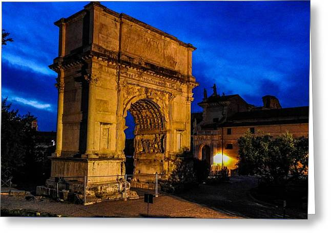 Domitian Greeting Cards - Arch of Titus in Rome Greeting Card by Marilyn Burton