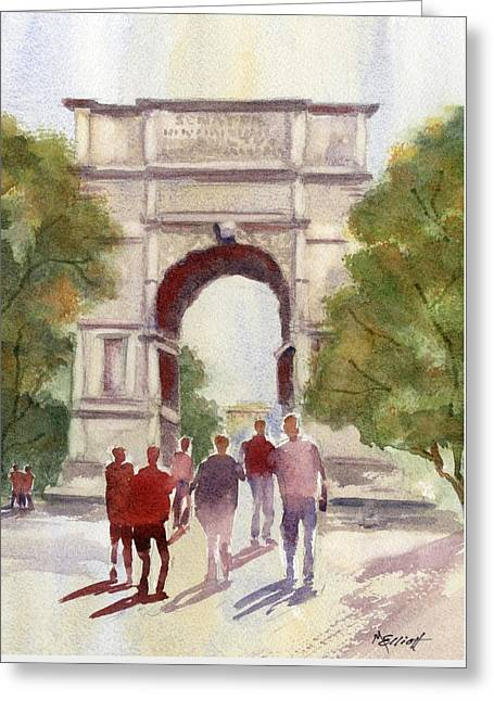Arch Of Titus Greeting Card by Marsha Elliott