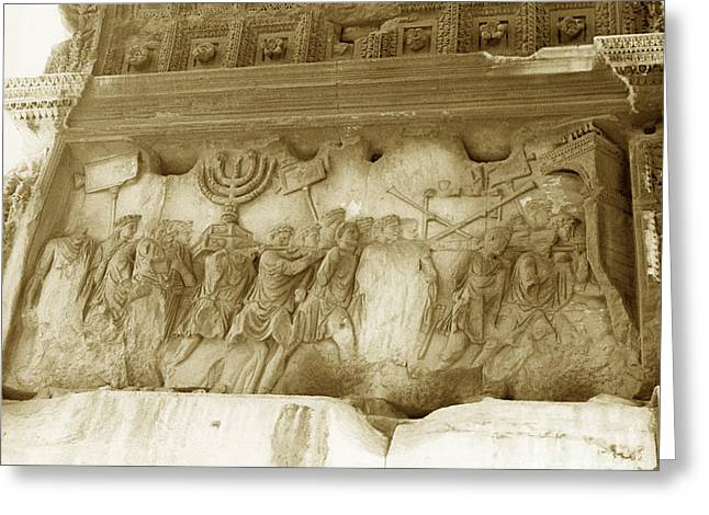 Menorah Greeting Cards - Arch Of Titus Greeting Card by Photo Researchers, Inc.