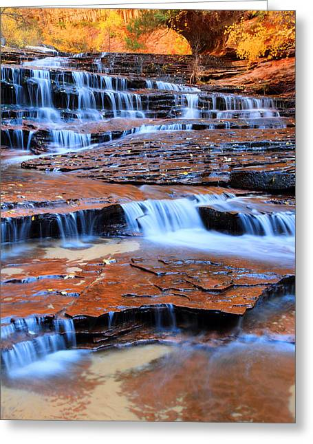 Archangel Falls In Zion Greeting Card by Pierre Leclerc Photography