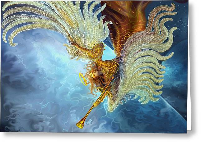 Angel Art Greeting Cards - Archangel Gabriel Greeting Card by Steve Roberts