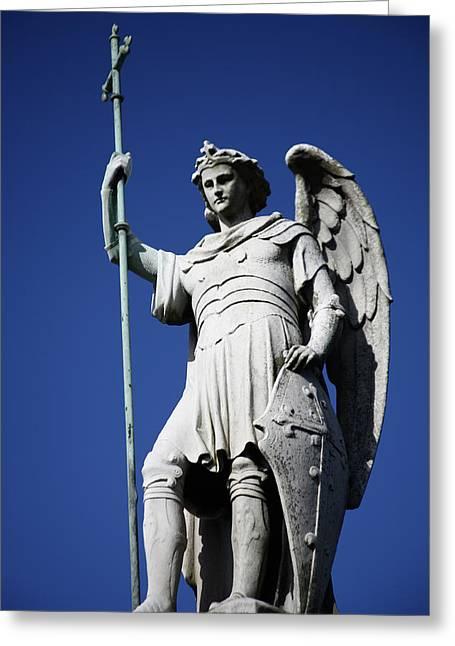 Archangel Greeting Cards - Archangel Greeting Card by Joe Burns