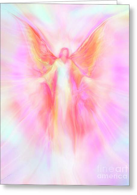 Archangel Digital Art Greeting Cards - Archangel Metatron Reaching Out in Compassion Greeting Card by Glenyss Bourne