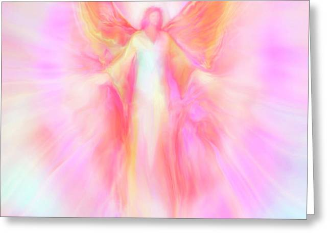 Archangel Metatron Reaching Out in Compassion Greeting Card by Glenyss Bourne