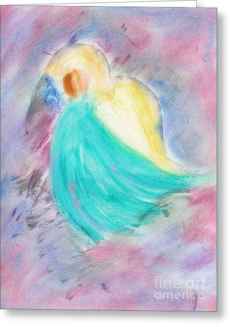 Archangel Pastels Greeting Cards - Archangel Michael Greeting Card by Deb Arndt