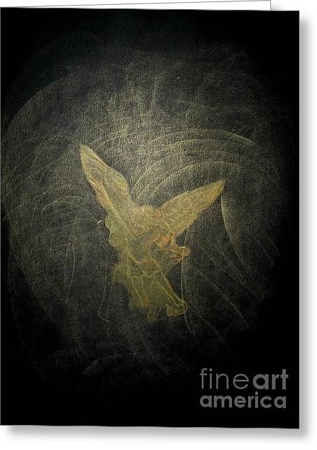 Archangel Drawings Greeting Cards - Archangel Michael Greeting Card by Goran Josifov