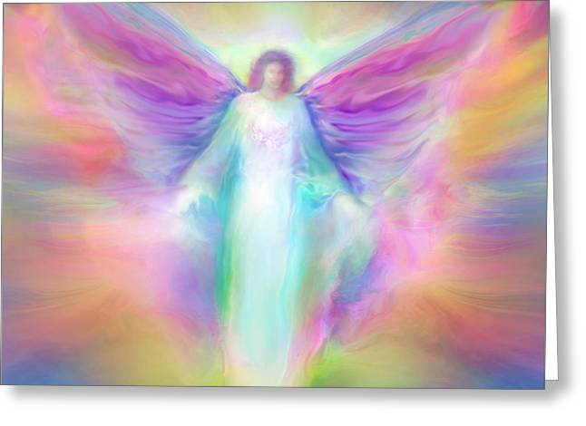 Archangel Raphael Healing Greeting Card by Glenyss Bourne