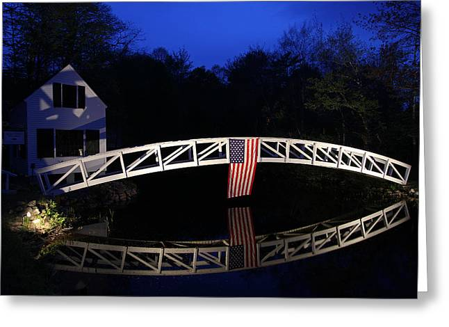 Arched Bridge In Somesville Maine Greeting Card by Juergen Roth
