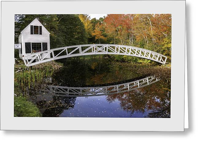 Down East Greeting Cards - Arched Bridge-Somesville Maine Greeting Card by Thomas Schoeller