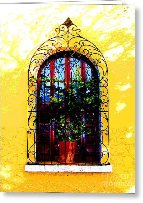 Portal Greeting Cards - Arched Window by Darian Day Greeting Card by Olden Mexico