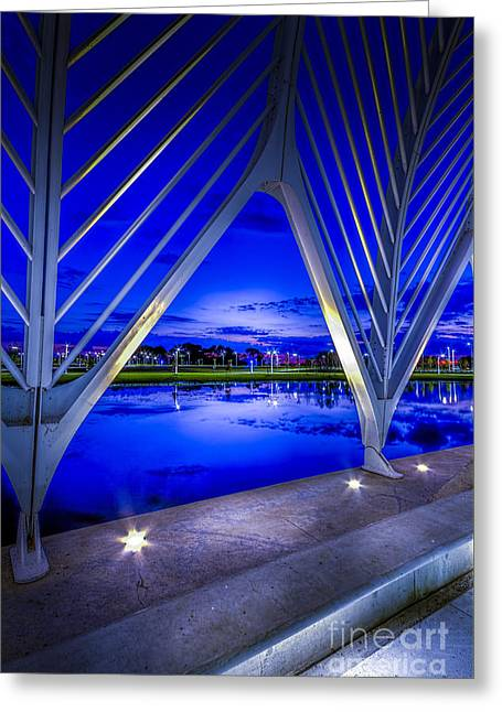 Blue Hour Greeting Cards - Arches At Sunset Greeting Card by Marvin Spates