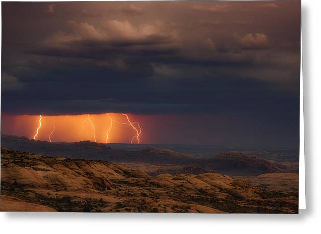 Arches Light Show Greeting Card by Darren White