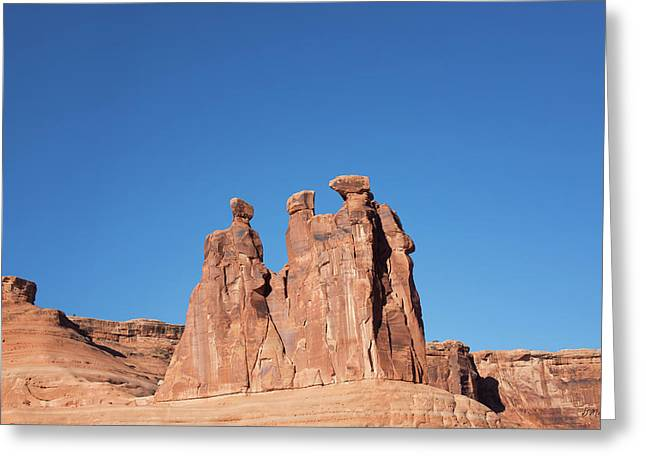 Monolith Greeting Cards - Arches NP VIII Greeting Card by David Gordon