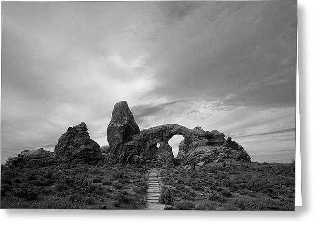 Monolith Greeting Cards - Arches NP X BW Greeting Card by David Gordon