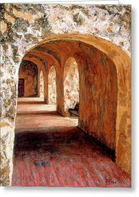 Arch Pastels Greeting Cards - Arches of Age II Greeting Card by Kay Ridge