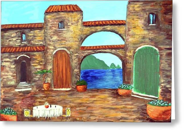 Arches Of Amalfi  Greeting Card by Larry Cirigliano