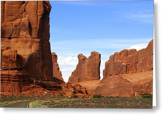 Arches Park 2 Greeting Card by Marty Koch