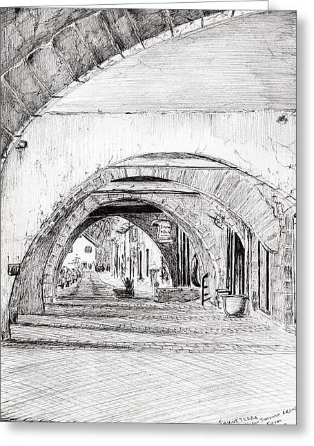 Arches Sauveterre France Greeting Card by Vincent Alexander Booth