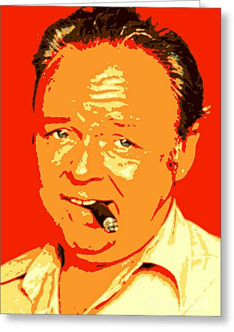 Archie Bunker Portrait Greeting Card by Pd