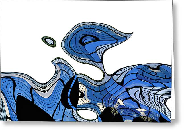 Blue Abstracts Greeting Cards - ArchiTec - 08a Greeting Card by Variance Collections