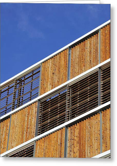 Venetian Blinds Greeting Cards - Architectural Louvres Greeting Card by Andy Smy