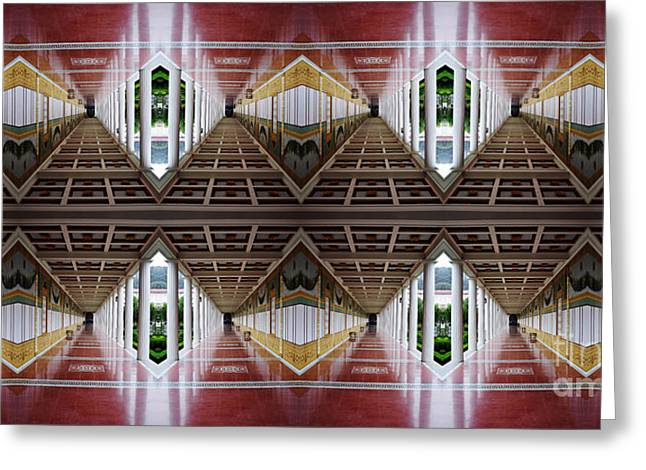 Bruster Greeting Cards - Architectural Nightmare II Greeting Card by Clayton Bruster