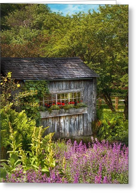 Tool Shed Greeting Cards - Architecture - A summers dream  Greeting Card by Mike Savad
