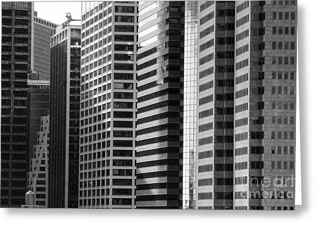 Chuck Kuhn Greeting Cards - Architecture NYC BW Greeting Card by Chuck Kuhn