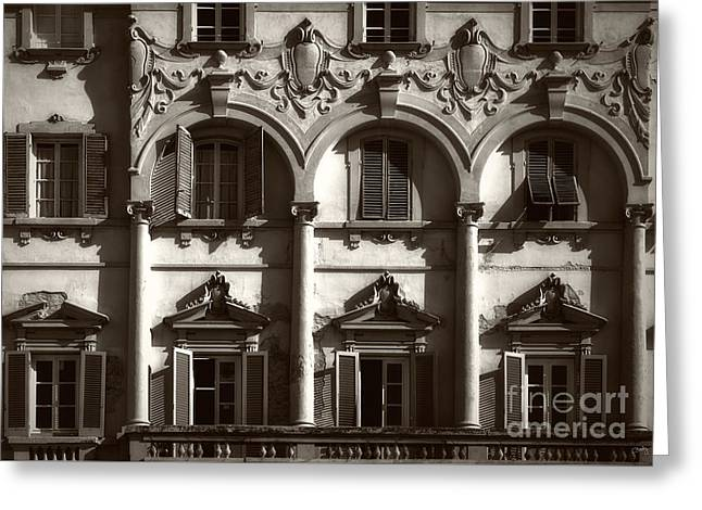Charly Greeting Cards - Architecture of Lucca Greeting Card by Prints of Italy