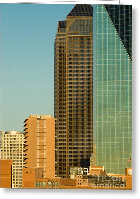 Metroplex Office Greeting Cards - Architecture- skyline of Dallas Texas Greeting Card by Anthony Totah