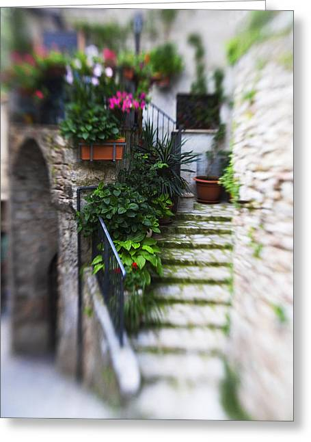 Entryway Greeting Cards - Archway and Stairs Greeting Card by Marilyn Hunt