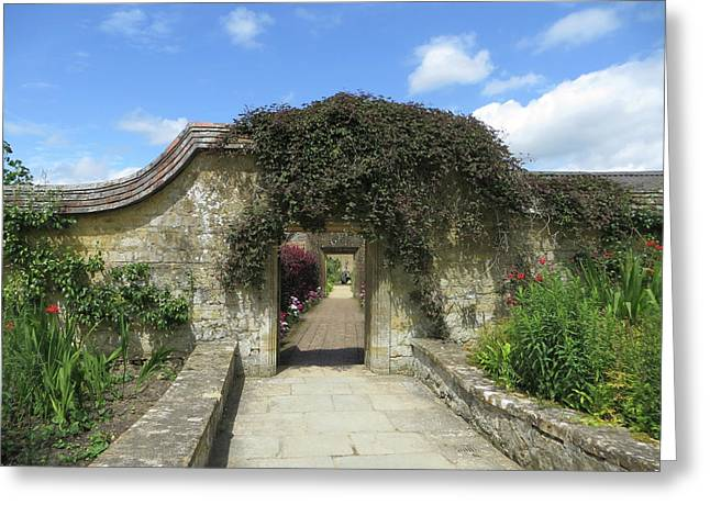 Archway To Barrington Court Gardens Greeting Card by Linda Hubbard Red Cap Art