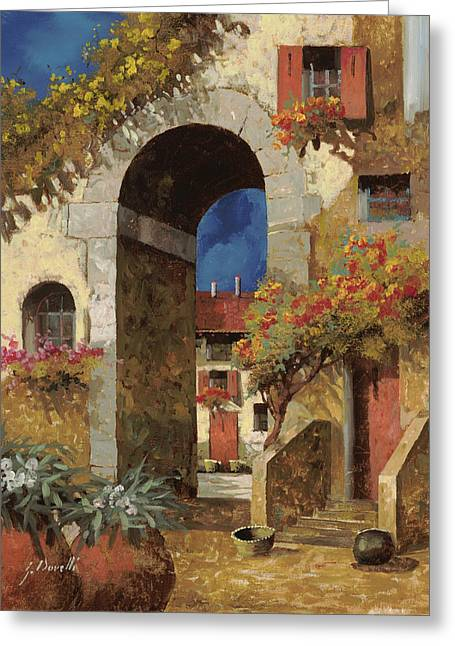 Basket Greeting Cards - Arco Al Buio Greeting Card by Guido Borelli