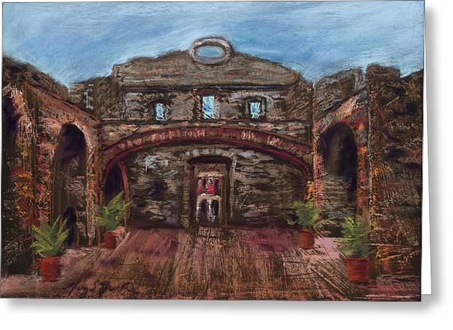 Historic Architecture Pastels Greeting Cards - Arco Chato Greeting Card by Mary Benke