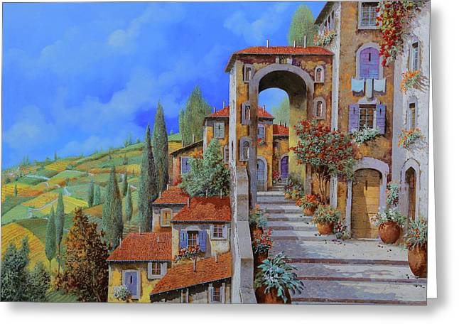 Summer Vacation Greeting Cards - Arco Dopo Le Scale Greeting Card by Guido Borelli