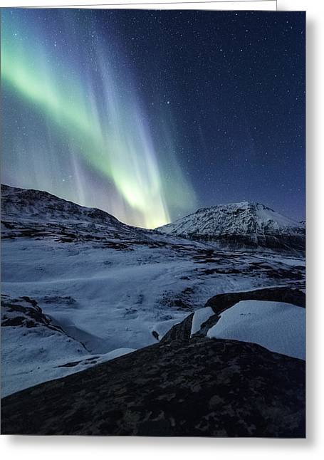 Rocks Greeting Cards - Arctic Blue Greeting Card by Tor-Ivar Naess