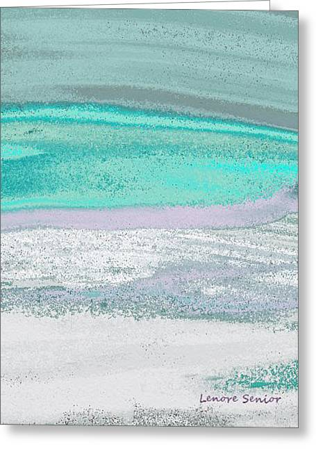 Abstract Digital Paintings Greeting Cards - Arctic Ice Greeting Card by Lenore Senior