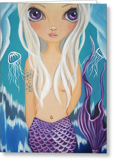 Arctic Mermaid Greeting Card by Jaz Higgins