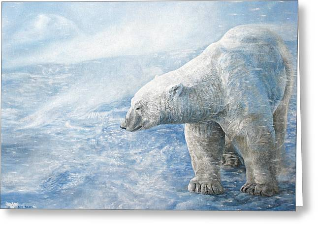 Sovereign Greeting Cards - Arctic Sovereign Greeting Card by Cara Bevan