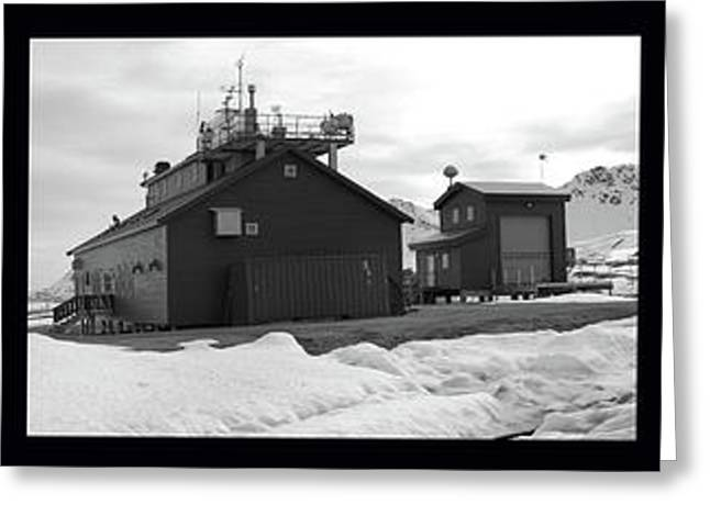 Snow Scene Landscape Greeting Cards - Arctic Triptych Greeting Card by Terence Davis