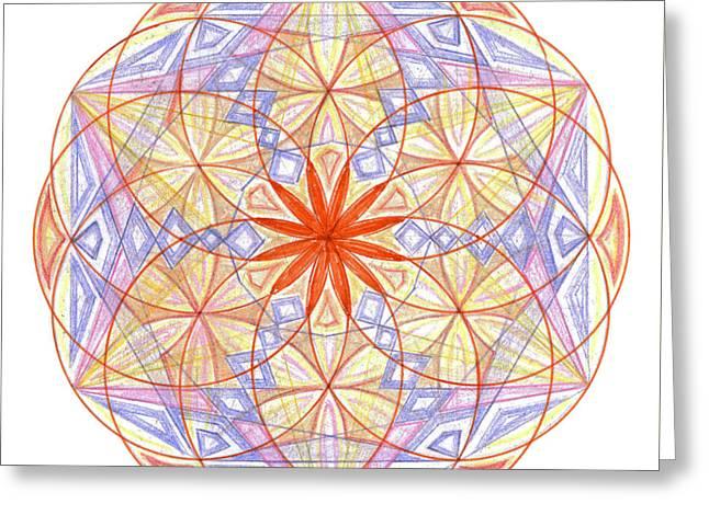 Sacred Drawings Greeting Cards - Arcturian code of 26.06.15 Greeting Card by Cveta Dinkova