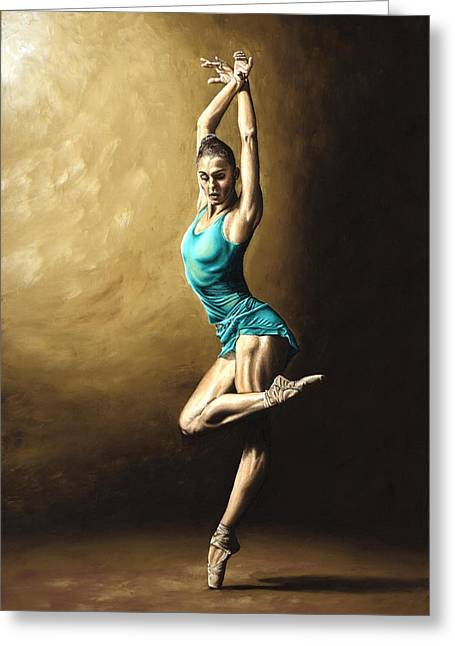 Modern Dance Greeting Cards - Ardent Dancer Greeting Card by Richard Young
