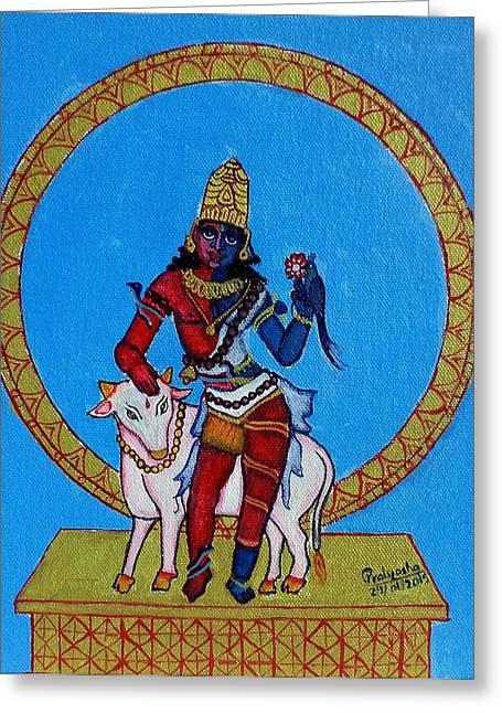 Nandi Greeting Cards - Ardhanarishwara Greeting Card by Pratyasha Nithin