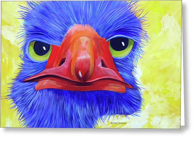 Animal Humor Greeting Cards - Are You Talking to Me Greeting Card by Micheal Hammons