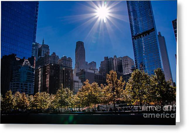 Occasion Greeting Cards - Area around the 9/11 Memorial Area Greeting Card by  ILONA ANITA TIGGES - GOETZE  ART and Photography