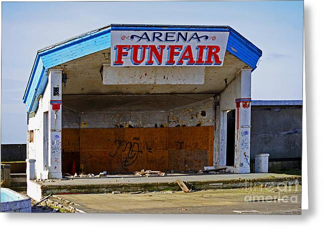 Amusements Greeting Cards - Arena Funfair. Greeting Card by Stan Pritchard